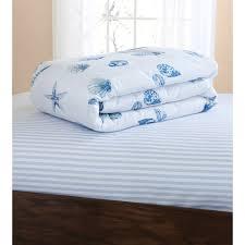 White Bedding Mainstays Seashells Bed In A Bag Coordinated Bedding Set Walmart Com