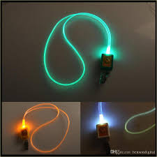 cheap led lanyard novelty lighting led optical fiber