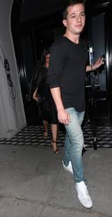 charlie puth jeans charlie puth and lea michele wear matching black outfits on date