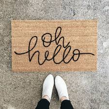 Shoe Mats For Entryway Oh Hello U0027 Welcome Mat For The Home Pinterest Apartments