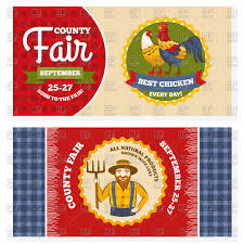 Vintage Invitation Cards County Fair Vintage Invitation Cards Design Vector Image 93708