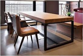 Table Round Glass Dining With Wooden Base Breakfast Nook by European Solid Wood Dining Table Rectangular Tables Iron And
