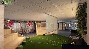 most attractive 3d corporate office design view yantram