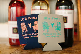 koozies for wedding rustic themed wedding at isle