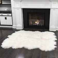 Sheepskin Area Rugs Genuine Sheepskin Area Rug With Regard To Costco Plan 6