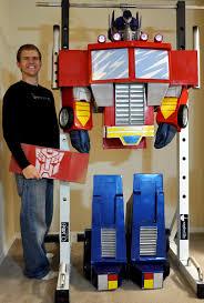 transformers halloween costumes cardboard transformers optimus prime halloween costume homemade