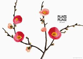 Flowers In Japanese Culture - pleats designed to look like flowers in issey miyake campaign