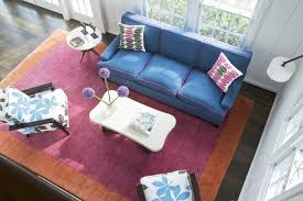 modern soft living room design with brown blue sofa advice for