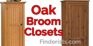best oak broom closet cabinet 2018