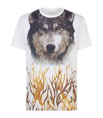 etro wolf face graphic t shirt harrods com
