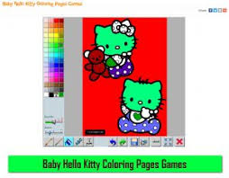 baby kitty coloring pages games mycoloringgame mycoloringgame