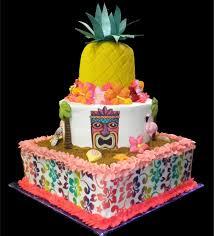 Luau Cake Decorations Hawaiian Decorations