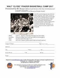 related keywords on basketball camp registration form template