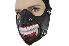 new halloween mask black faux leather mouth muzzle s u0026m rave goth new men halloween