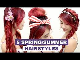 nice hairdos for the summer 5 hairstyles for spring summer l quick cute and easy hair