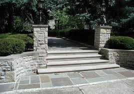 treads and stone steps lang stone building and landscaping