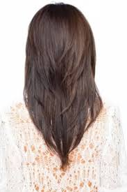 is v shaped layered look good for curly hair long hair with a v shape cut at the back women hairstyles