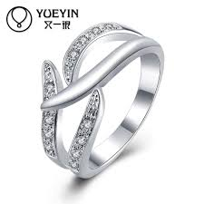 classic designs rings images Female jewelry silver plated wedding rings engagement jewelry jpg