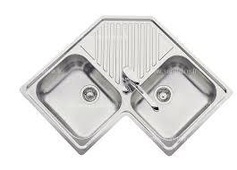 lavabo de cuisine evier de cuisine inox d angle ev 2431 inox lissesanitaire fr