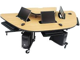 stylish computer desk amazing computer classroom tables light oak laminate top steel