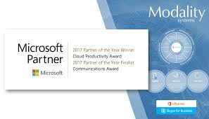 modality systems recognised as finalist for the 2017 microsoft