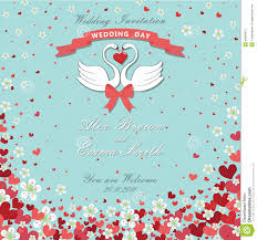 Invitation Card With Photo Wedding Invitation Card With 2 Hearts And Flowers Royalty Free