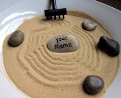 Zen Decor by Personalized Stone For Mini Zen Garden Customized Name Hand