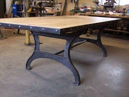 industrial kitchen table furniture 14 best cast iron table bases images on table bases
