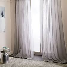 Beige And Gray Curtains Gray Curtains West Elm