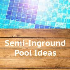 51 best semi inground pools images on pinterest backyard ideas