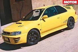subaru yellow 1999 subaru wrx sti review classic motor motor