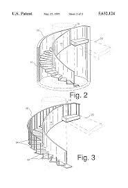 patent us5632124 circular stairway and method of making same