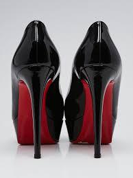 christian louboutin black patent leather bianca 140 pumps size 8