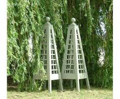 Wooden Trellis Plans Garden Obelisk Trellis The Gardens