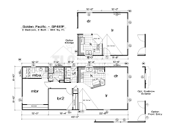 Floor Plans For Mobile Homes by Floor Plans Golden Pacific Series Tlc Manufactured Homes