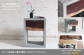 Modern Diy Furniture by Ep56 Concrete Walnut Nightstand Homemade Modern Com Homemade