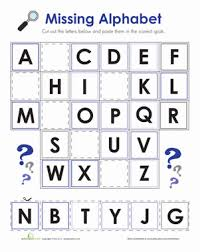 kindergarten the alphabet worksheets u0026 free printables education com