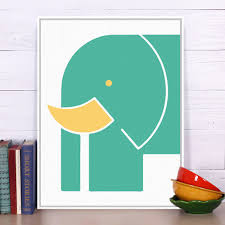 aliexpress com buy elephant green modern abstract a4 poster