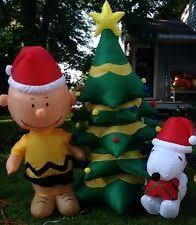 peanuts airblown inflatables snoopy christmas decoration ideas decorations ideas