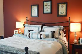 idea accents decoration painted bedrooms bedroom orange accents wall of modern