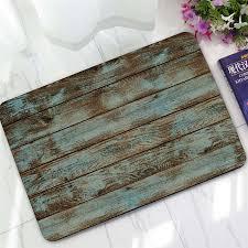 Outdoor Rubber Rugs Aliexpress Com Buy Funny Bath Mat Rug Rustic Vintage Wood Mats
