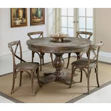 Distressed Pedestal Dining Table Distressed Dining Table Fiin Info