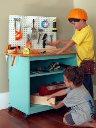 Pretend Kitchen Furniture How To Turn Old Furniture Into A Kids U0027 Toy Workbench How Tos Diy