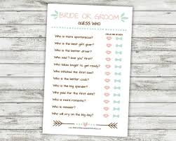 he said she said bridal shower he said she said or groom guess who printable bridal