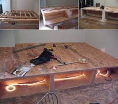 marvelous queen platform bed plans with storage and best 25 diy