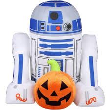 r2 d2 with pumpkin greeter halloween decoration walmart com
