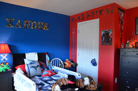 red and blue bedroom red blue superhero theme boys bedroom with red and blue walls