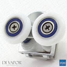 di vapor r metal double shower door top roller 6mm to 8mm