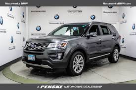 turn off interior lights ford explorer 2016 2016 used ford explorer 4wd 4dr limited at motorwerks bmw serving