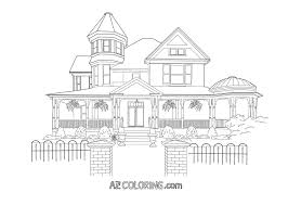 house colouring victorian house coloring pages coloring home